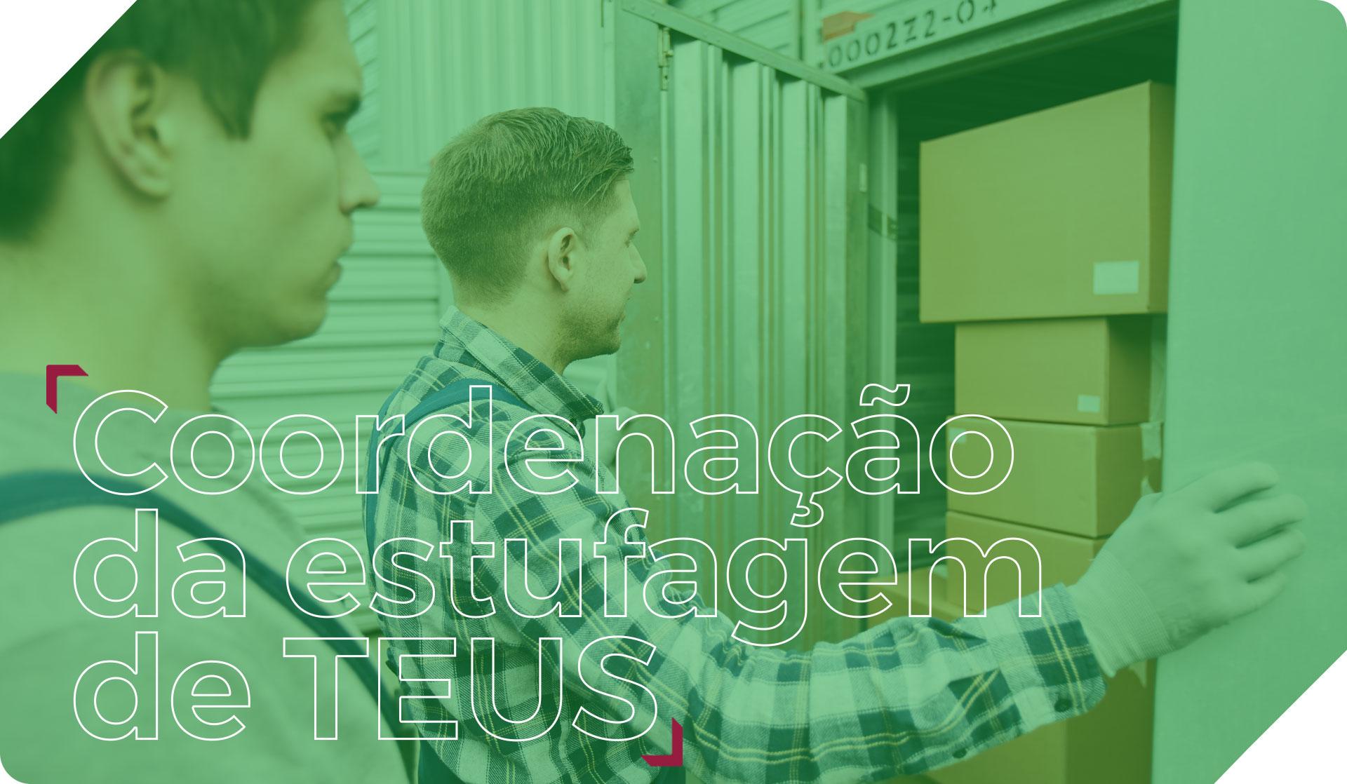 Coordenação da estufagem de TEUS Serviços Portuários PM Logística