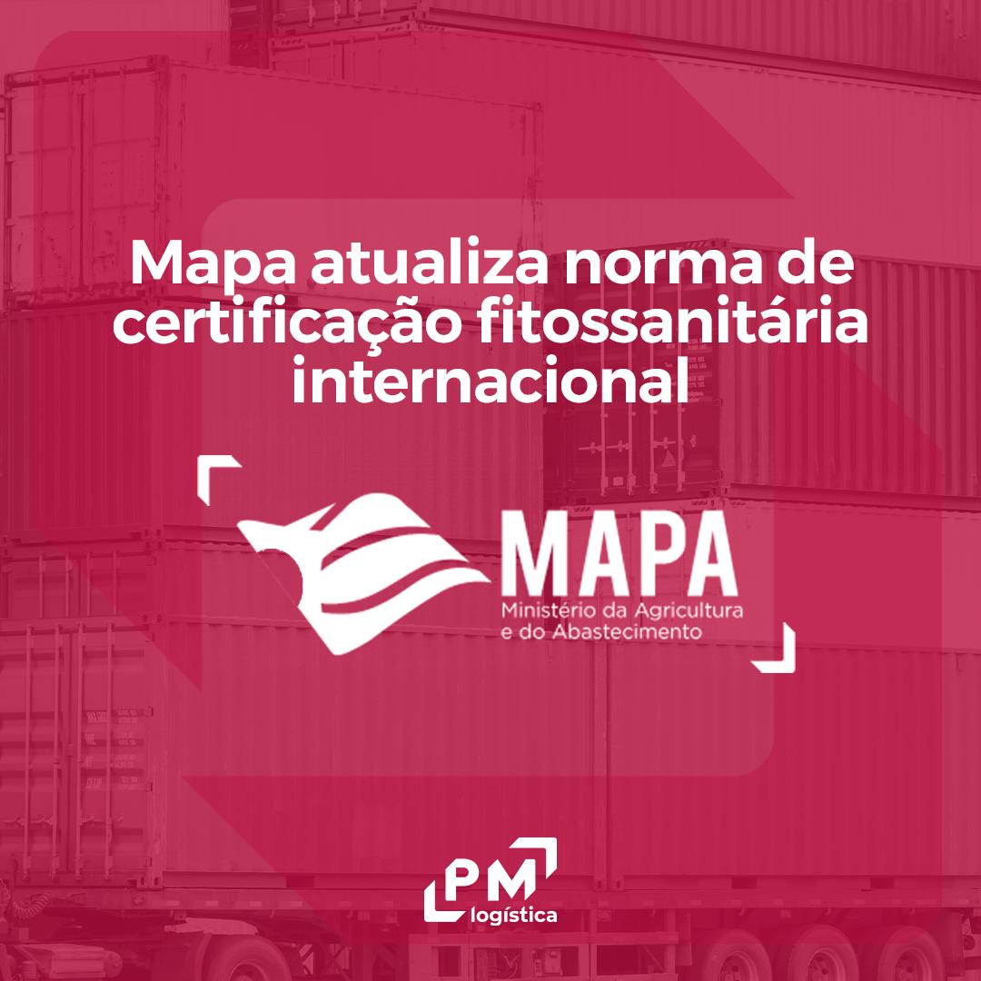 mapa atualiza certificação fitossanitária internacional pm logística